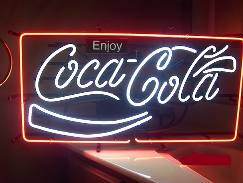 Coca Cola Coke Enjoy Neon Sign #0: s p142 i1 w488